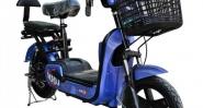 Електрически скутер с педали модел MD в син цвят