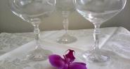 7 бр. Чаши за шампанско,стъкло