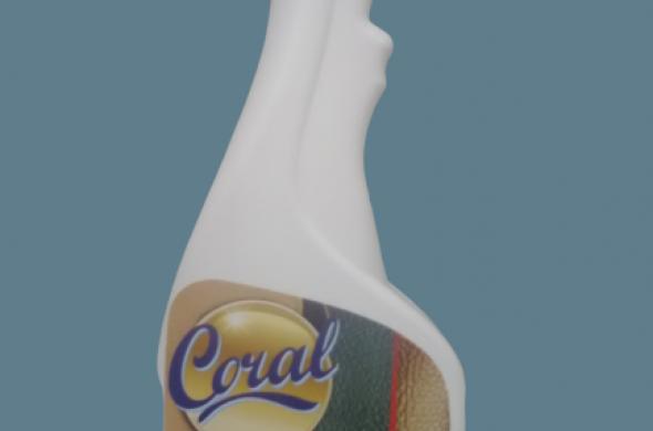 CORAL-Препарат за почистване и поддържанe на кожен салон с натурални масла.