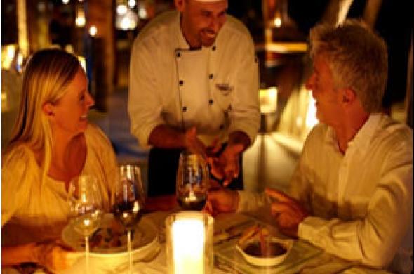 Кухнята и сервирането в малкия ресторант